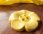 Giant Flower Button Yellow - UK manufacturer