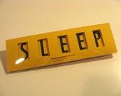 SLEEP / AWAKE Baby Sign, Yellow