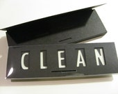 Glow in the Dark, Quick Flick Clean / Dirty Dishwasher Sign, Black