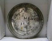 "Primitive Decor - 9"" J.C. Mills Pie Tin"