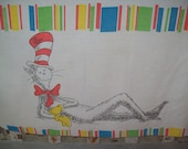 The Whimsical Dr. Seuss --  one yard vintage fabric