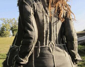 Tribal Snow Queen Sheepskin Jacket