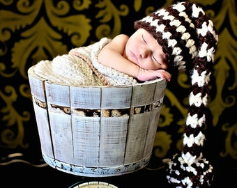 Newborn Photo Prop Baby Boy Elf Hat