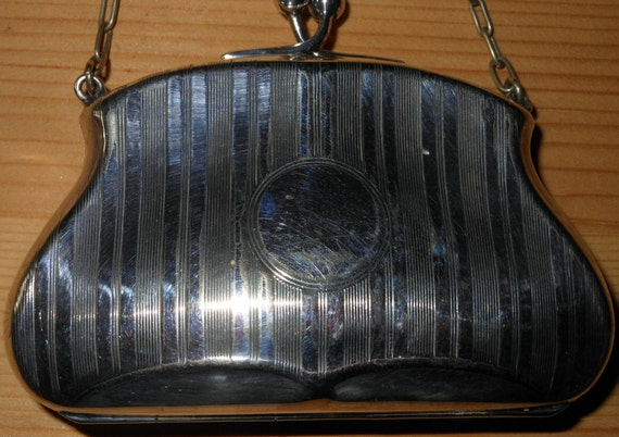 Super Little Silver Plated Purse..c1920