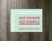 Printable Digital Pink Red and Blue Save The Date