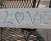 Reclaimed Wood LOVE Sign in Lavender