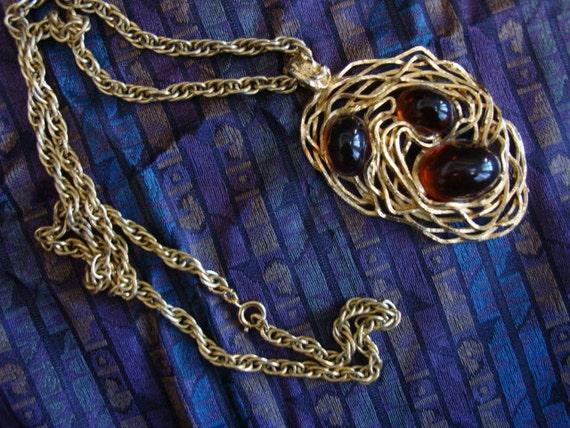SALE Vintage Napier Cabachon Pendant