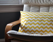 Yellow Chevron  - cushion cover 16 x 23.5""