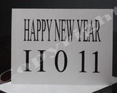 10 (Happy New Year 2011) Blank Inside Greeting Cards with Envelopes