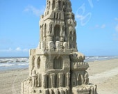 5X7 (Sand Castle) photo or poster print (more sizes available)