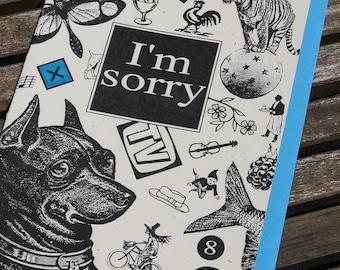 IM SORRY blank greeting card