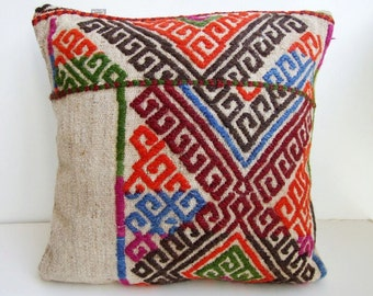 Anatolian - Turkish Rug Pillow Cover (kilim)