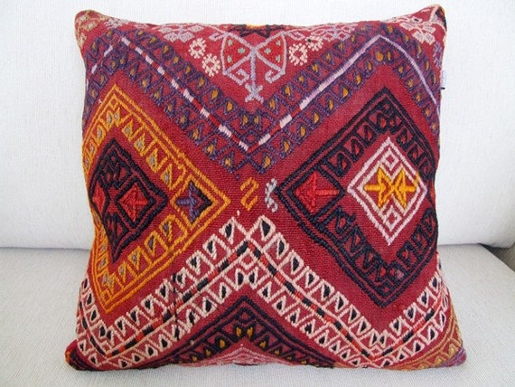 Anatolian - Turkish Rug Pillow Cover - kilim