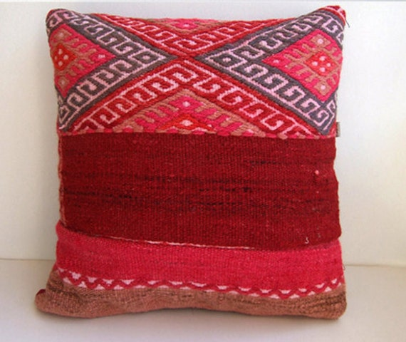 Antique Handmade Kilim Rug Pillow Case From By Mothersatelier