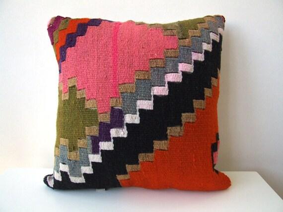 Anatolian Antique Rug Pillow Cover (kilim)