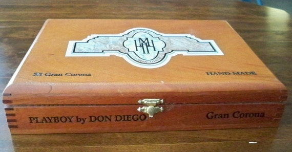 Vintage Playboy Cigar Box Hugh M Hefner Gran Corona By Don
