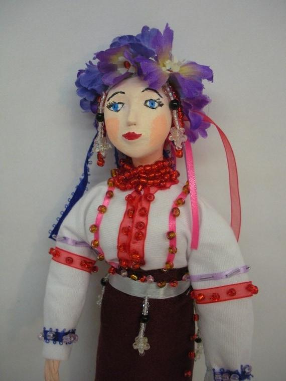 Ukrainian Doll in traditional folk costume