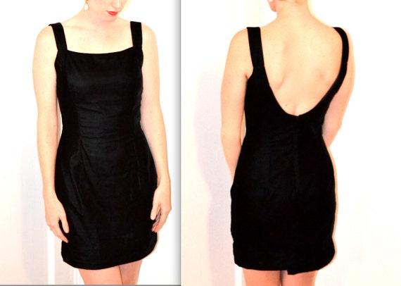 90s Little Black Velvet Dress, Scott McClintock 10