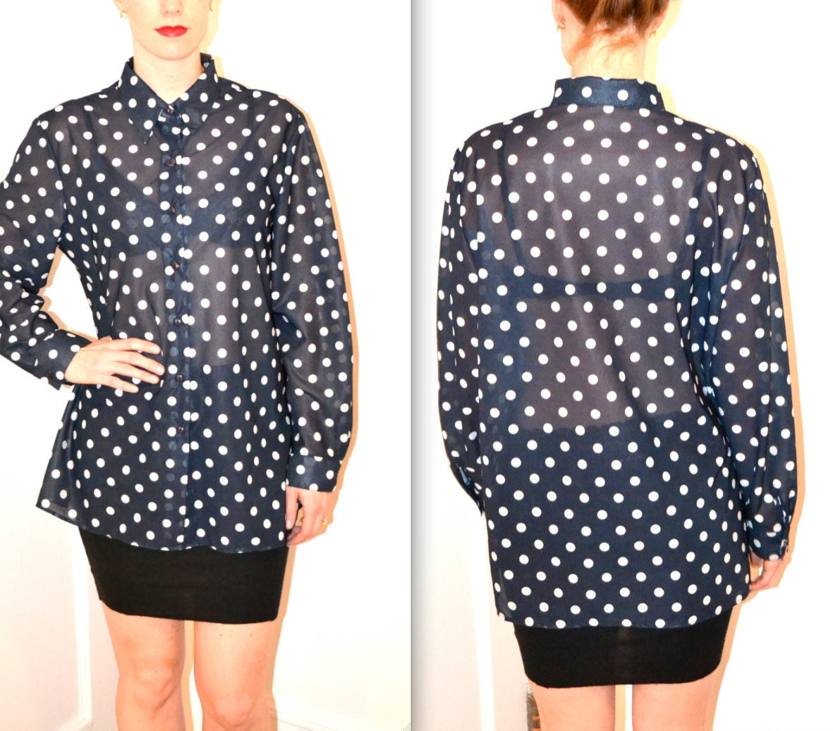 Blue Polka Dot Shirt Polka Dot Shirt