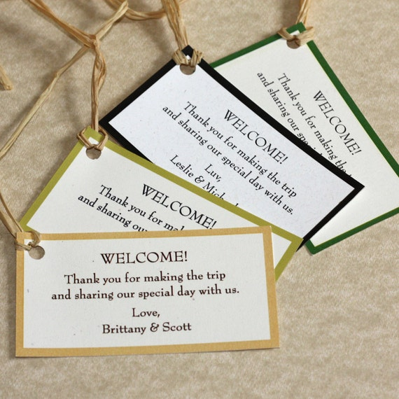 Wedding Labels For Gift Bags: Wedding Welcome Gift Tags Set Of 10 By Willowglenstationery