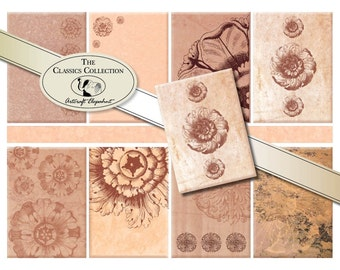 ACEO digital sheet, pink marble, 2.5x3.5 inch