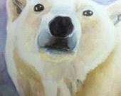 Polar Bear Watercolor Painting- Print