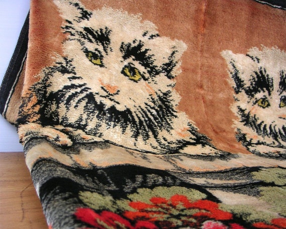 Vintage Cat Tapestry Rug Wall Hanging