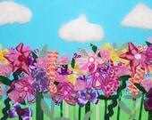 Nursery/Children's Room Flower Art