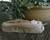 "Driftwood Candle Holder 10"" x 3"""