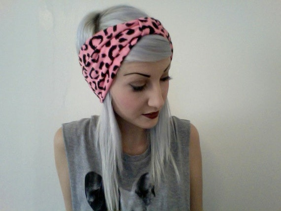 HOT PINK LEOPARD print barbie turban headband
