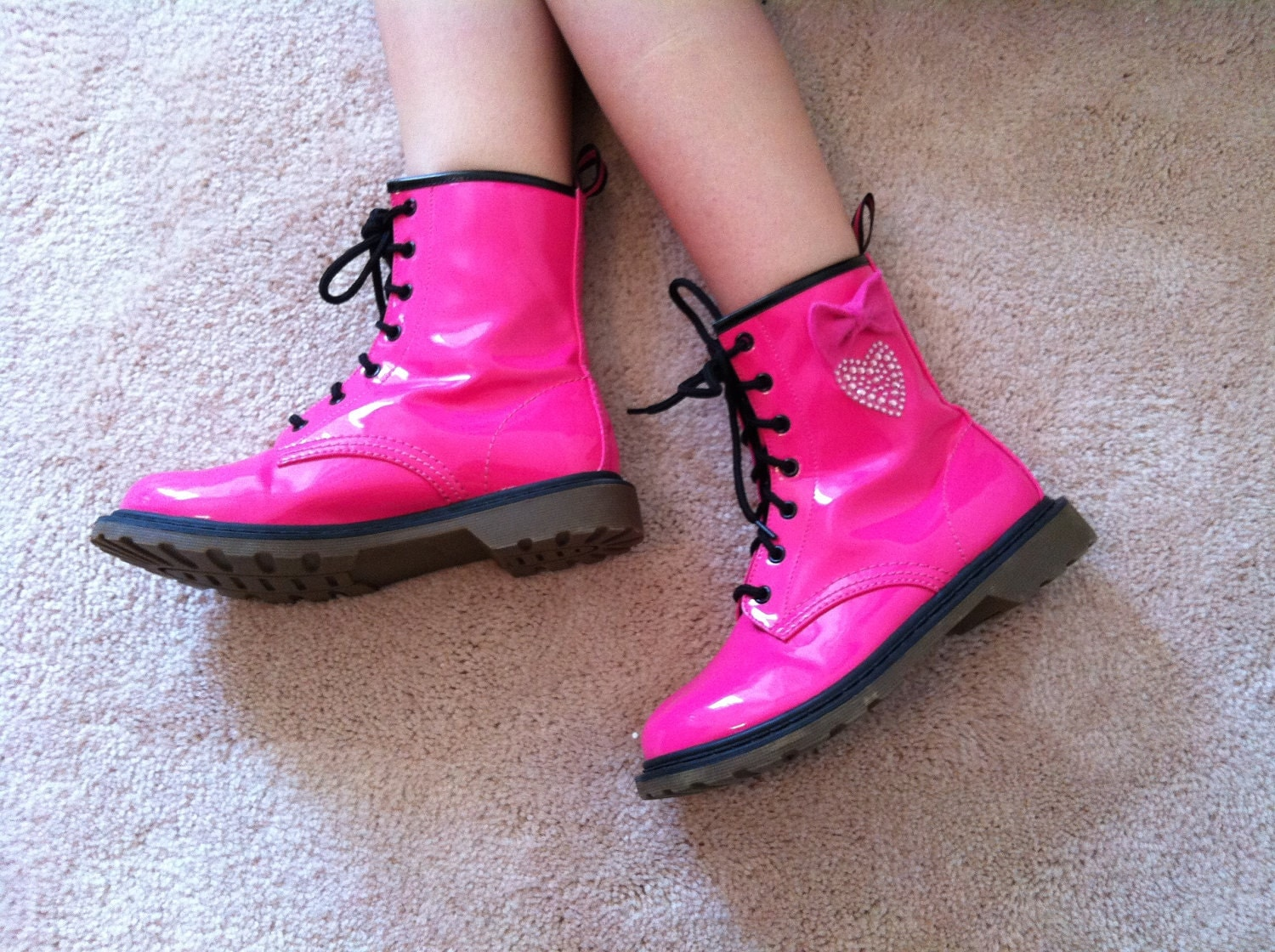 Pink Combat Boots For Girls Boots And Heels 2017