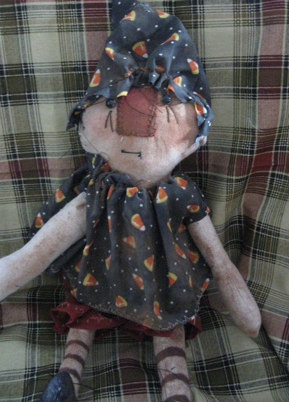 Priddles the 15 inch rag cloth doll witch