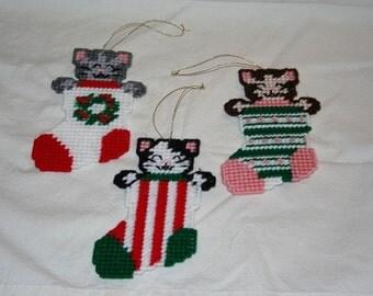 Three Little Kitten Ornaments
