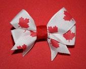Canadian Hair Bow on alligator clip