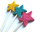 Room decor fairy theme magic bright colors wands fairy wand three pink blue yellow