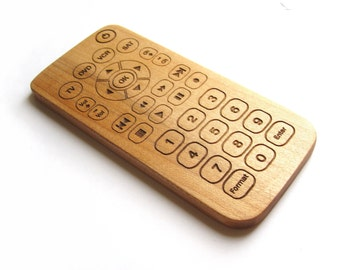 Personalized toy wood remote control baby toys faux tech