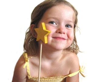 Yellow wand for children perfect for your little fairy or magic themed room