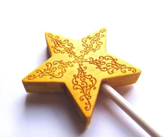 Yellow magic wand for kids honey gold