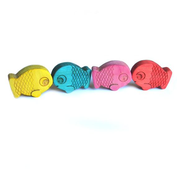 Fish Fridge magnets wood toy play