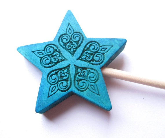 Blue wand fairy accessories for dress up and pretend play