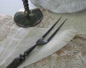Vintage Silver Meat Carving Fork