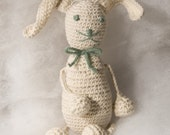 Organic Baby Toy - Squishi Bunny  (Valentines gift, special occasion baby gift)