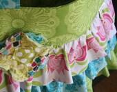 Ruffled Handbag/ Diaper Bag/ Caitlynn Tote-Large
