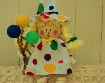Birthday button doll