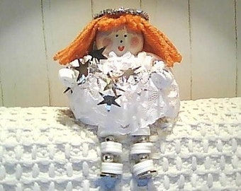 Silver Angel Button Doll