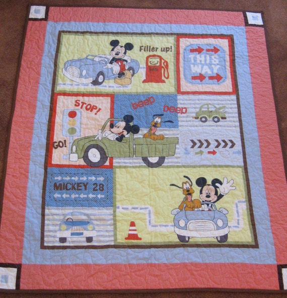 Mickey Mouse Baby or Toddler Quilt