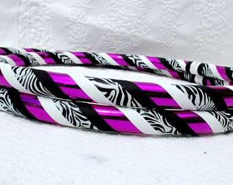 Pink Zebra Custom Hula Hoop - Collapsible or Standard - Any Size Hoola Hoop