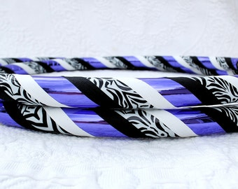 Purple Zebra Custom Hula Hoop - Collapsible or Standard - Any Size