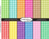 New Gingham Spring Picnic-Paper Pack-12x12inch for all Occasions Invitations, Announcement, Scrapbooking and More Crafting Ideas (DPS10)