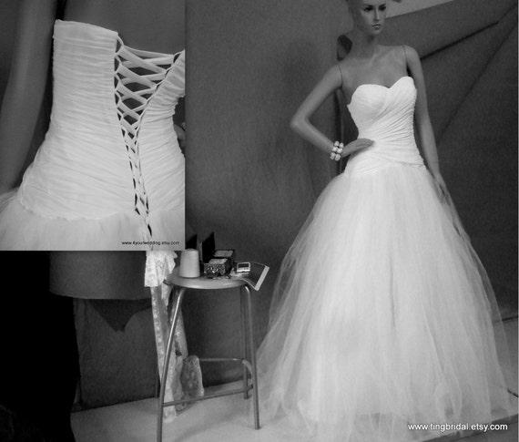Jess Dress---Dropped Waist Sweetheart Chiffon Tulle